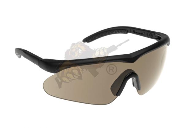 Schutzbrille Raptor Schwarz - Smoke/Clear/Lightrust (SwissEye)
